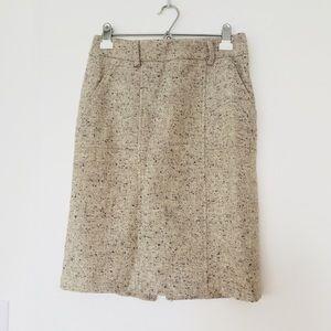 Ann Taylor   tweed wool pencil skirt